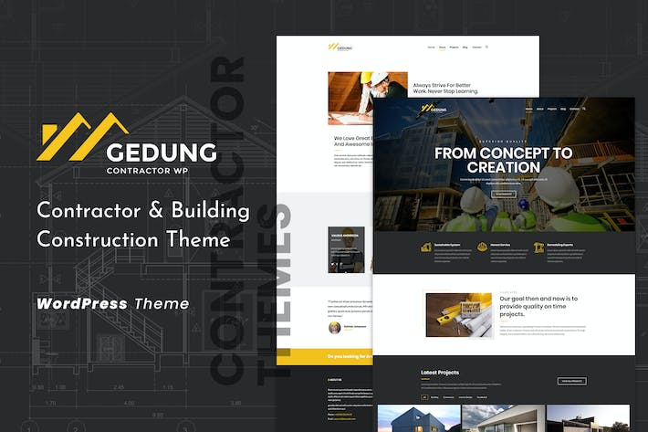Thumbnail for Gedung | Contractor & Building Construction Theme