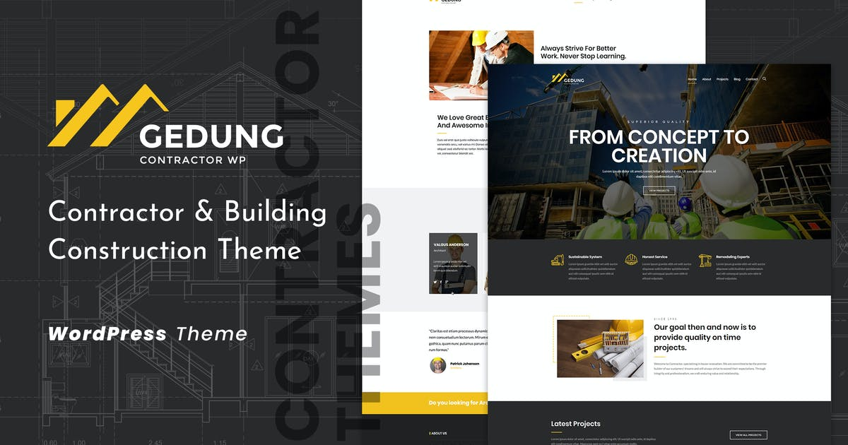 Download Gedung   Contractor & Building Construction Theme by themesawesome