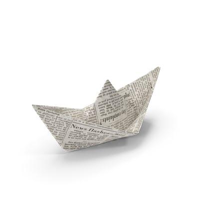 Barco de papel periódico