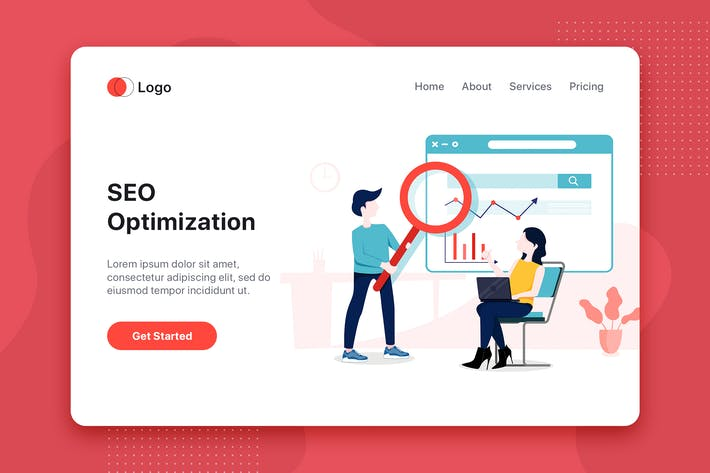 Thumbnail for SEO Optimization flat concept for Landing page
