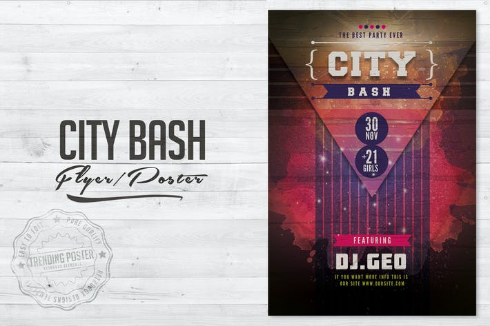 Thumbnail for City Bash Flyer Poster