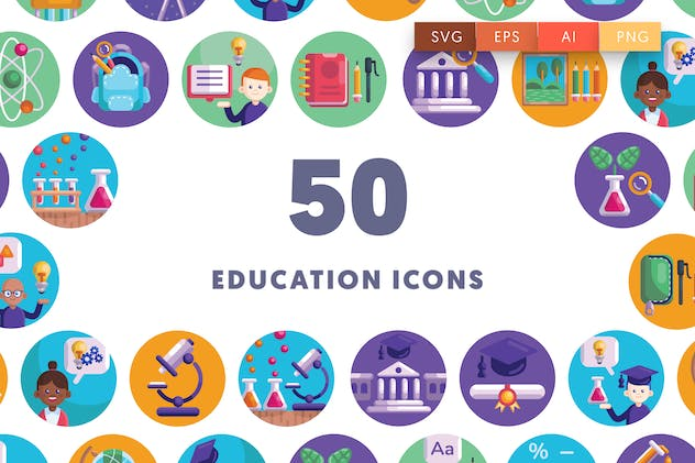 50 Back to School Icons
