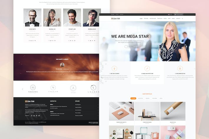 Thumbnail for Megastar - Business Joomla Template