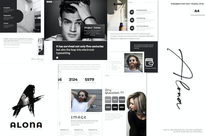 Thumbnail for Alona - A4 Google Slides