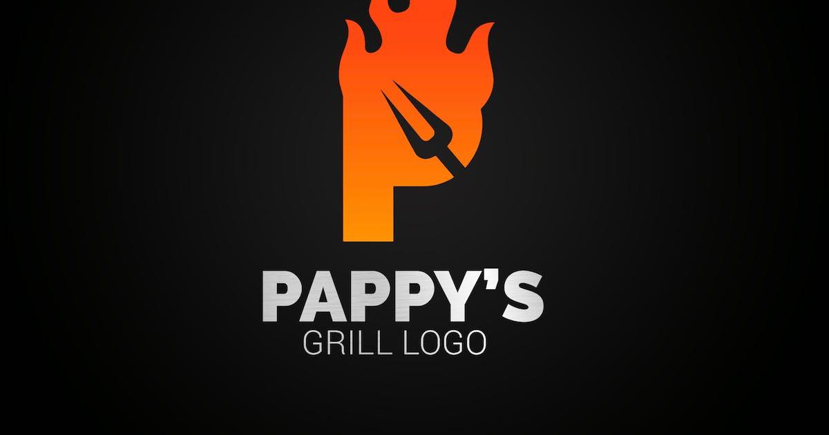 Download Letter P Fire Grill Logo by SmartDesigns_eu