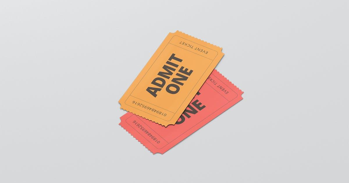 Download Event Ticket Mockup - Small Size by visconbiz