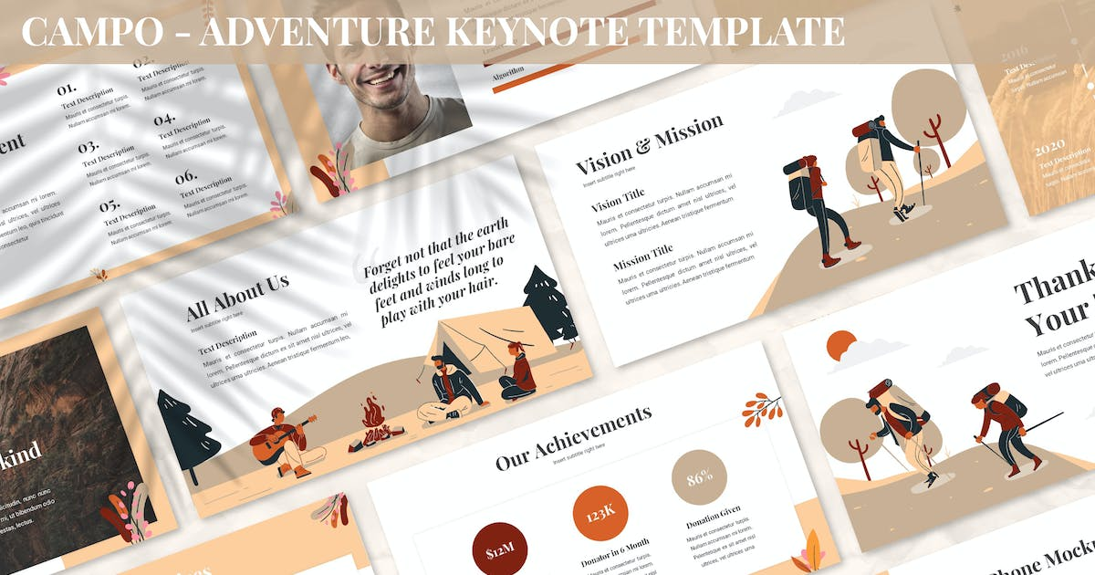 Download Campo - Adventure Keynote Template by SlideFactory