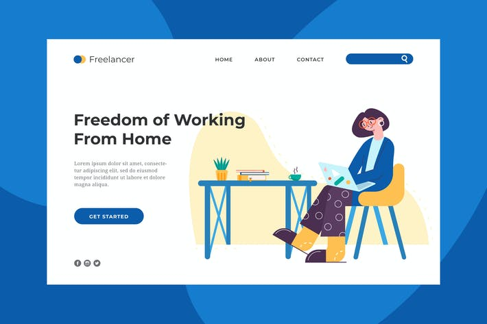 Cover Image For Freelancer Life Landing Page
