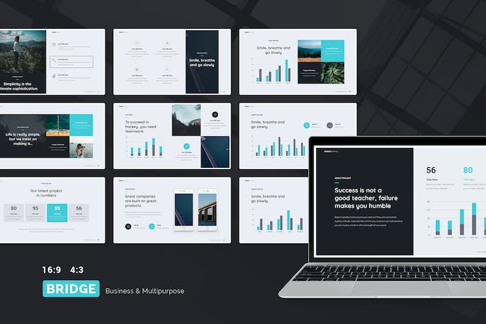 Thumbnail for BRIDGE - Business & Multipurpose Template (PPT)