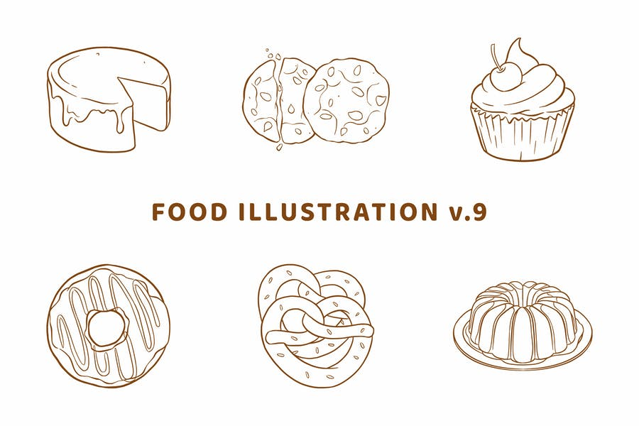 Lebensmittel-Illustration V.9 (Gliederungsversion)