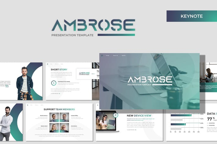 Thumbnail for Ambrose - Business Keynote Template