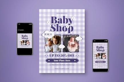 Baby Shop Flyer Set