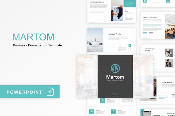 Thumbnail for Martom - Creative PowerPoint Template