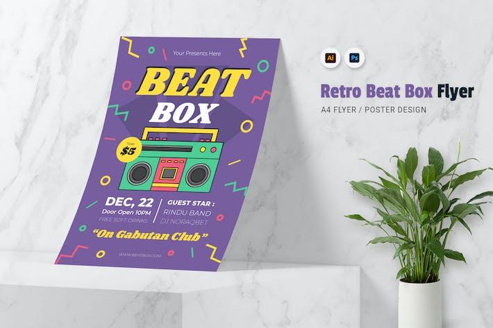 Thumbnail for Retro Beat Box Flyer