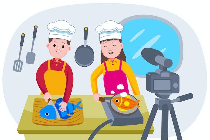 Live-Veranstaltung mit Chefs Cooking übertragen
