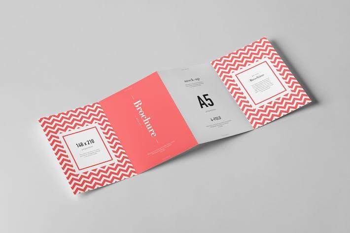 Thumbnail for Four-Fold A5 Brochure Mock-up