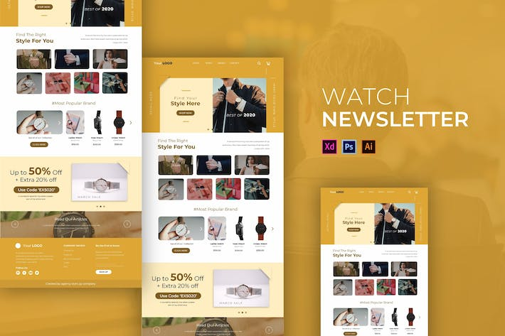 Thumbnail for Watch | Newsletter Template