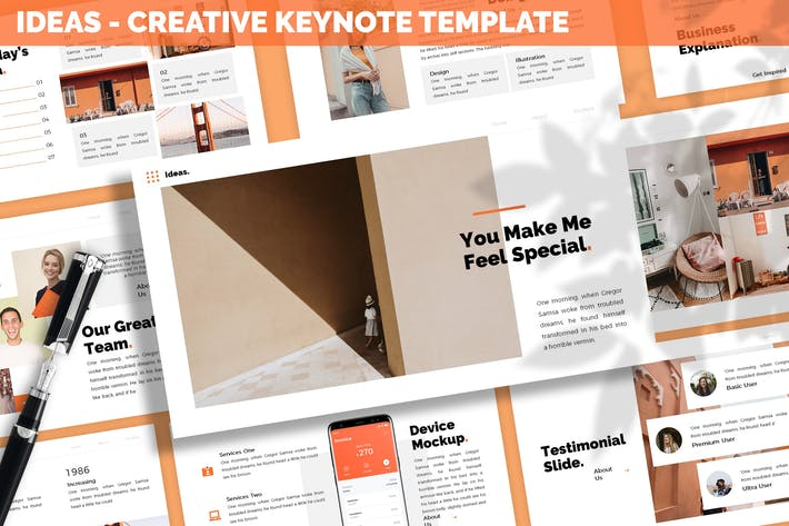 Thumbnail for Ideas - Creative Keynote Template