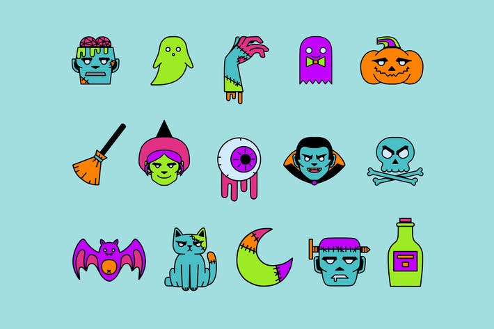 Thumbnail for Creepy Colors Icons