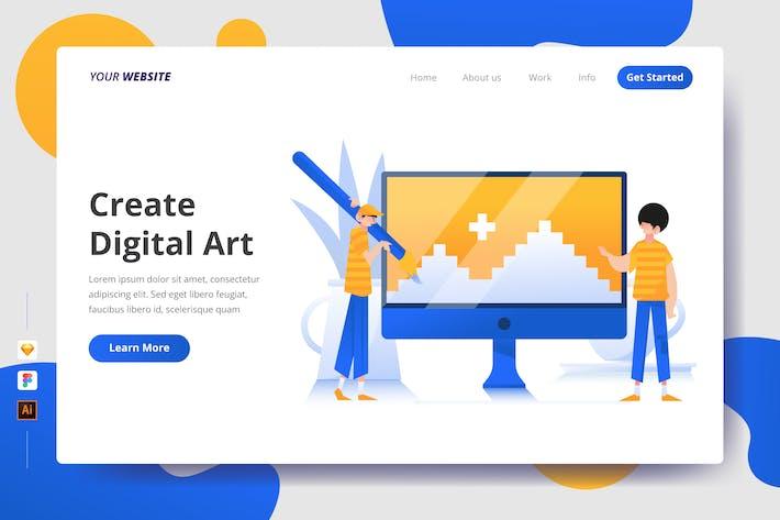 Thumbnail for Create Digital Art - Landing Page