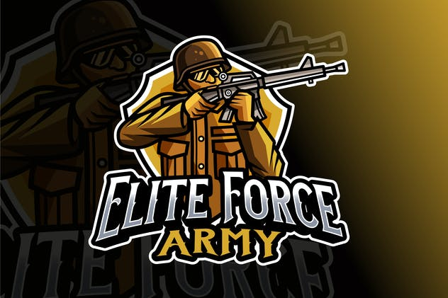 Elite Force Army Logo Template