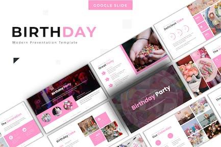 Birthday Party - Google Slide Template