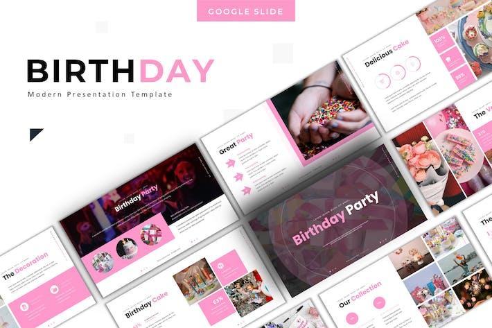 День рождения - Шаблон слайдов Google