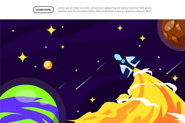 Space Aircraft - Space Illustration Scene