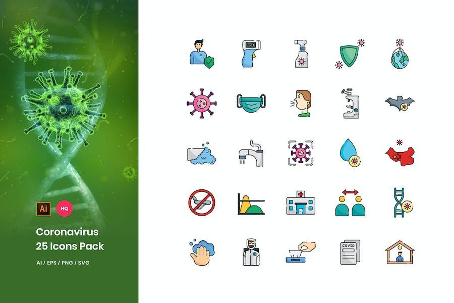 Coronavirus Disease Icons Pack