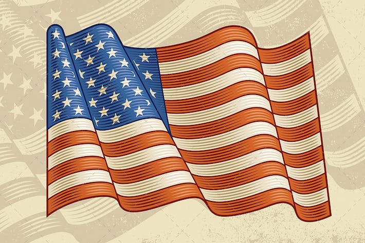 Thumbnail for Vintage American Flag