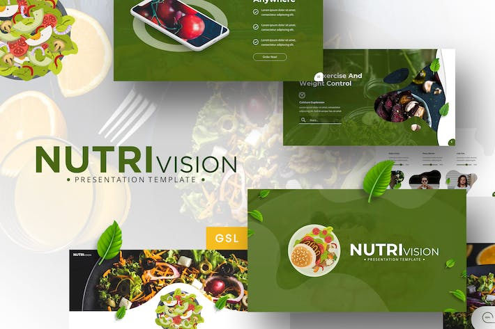 Thumbnail for Nutrivision - Google Slides Template