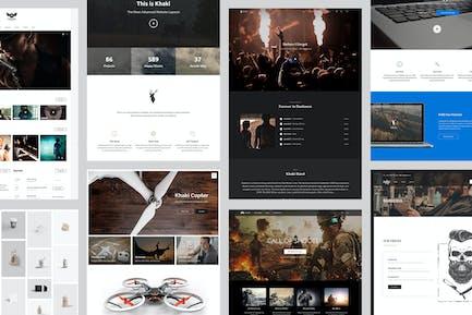 Khaki   Responsive Multi-Purpose WordPress Thema