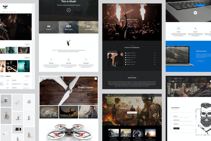 Thumbnail for Khaki | Responsive Multi-Purpose WordPress Theme