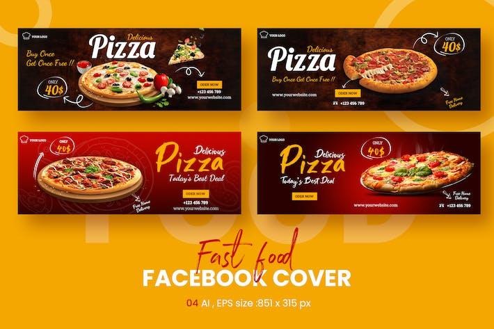 Délicieuse Pizza Vente Facebook Timeline Couvertures