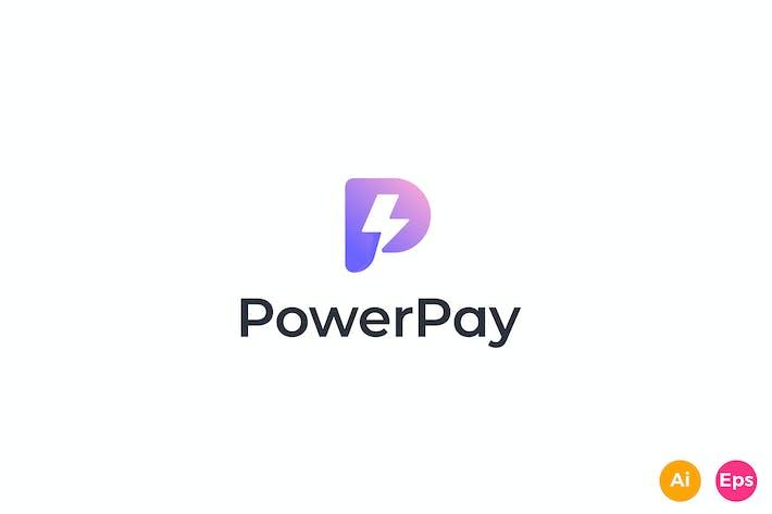 Thumbnail for Power Pay - App, Thunder, Letter P, Logo Template