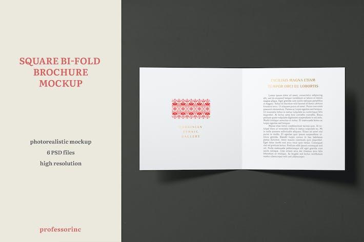 Thumbnail for Quadratische Bi-Fold Broschüre Mockup