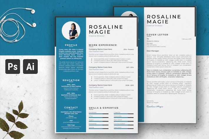 Thumbnail for Creative Director Multipurpose Resume CV Template