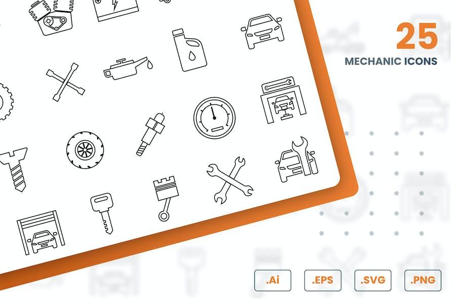 Mechanic Icons Set