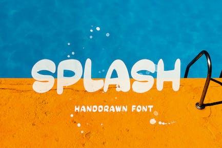 SPLASH - Fuente dibujada a mano