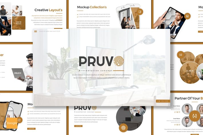 Thumbnail for Pruvo - Business Google Slides Template