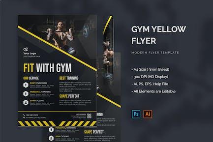 Gym Yellow - Flyer