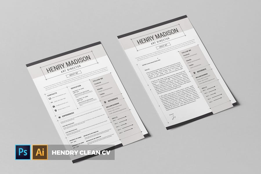 Henri Clean  | CV & Resume - product preview 0