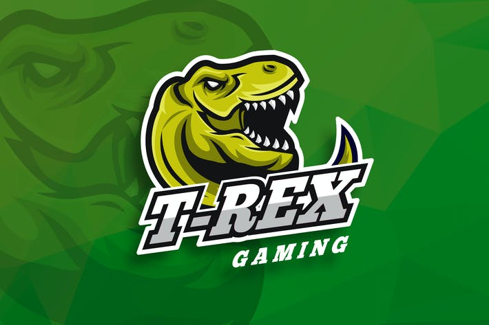 Thumbnail for T-Rex Gaming Sport And Esport Logo Vector Template
