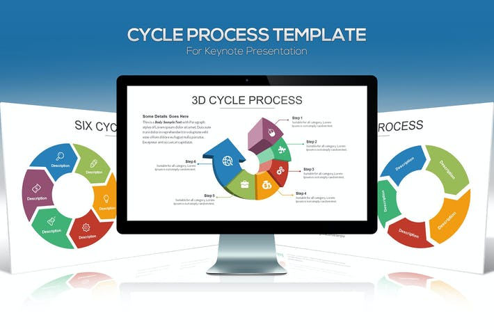 Thumbnail for Cycle Process Keynote Template