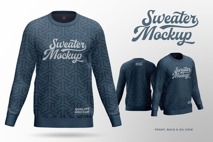 Thumbnail for Crew Neck Sweatshirt Mockup