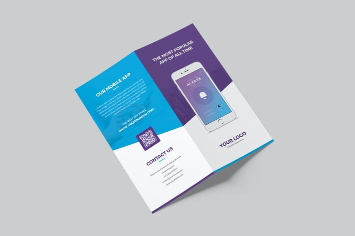 Thumbnail for Brochure – Mobile Apps Bi-Fold DL
