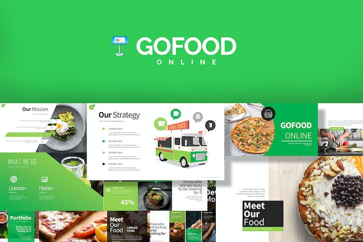 Thumbnail for Gofood Keynote Templates