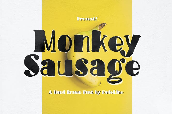 Thumbnail for Monkey Sausage! Funny Font