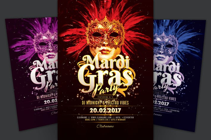 Thumbnail for Mardi Gras Carnival Flyer