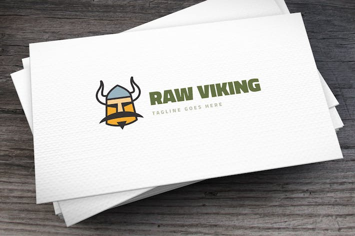 Thumbnail for Raw Viking Logo Template